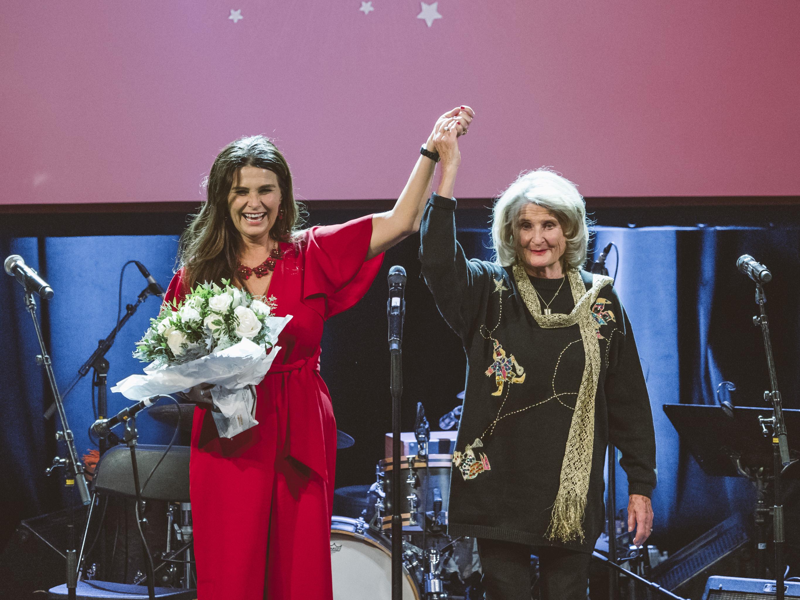 Karin Krog mottok NOPAs hederpris på Chat Noir 14. november 2017. Foto: Christoffer Krook