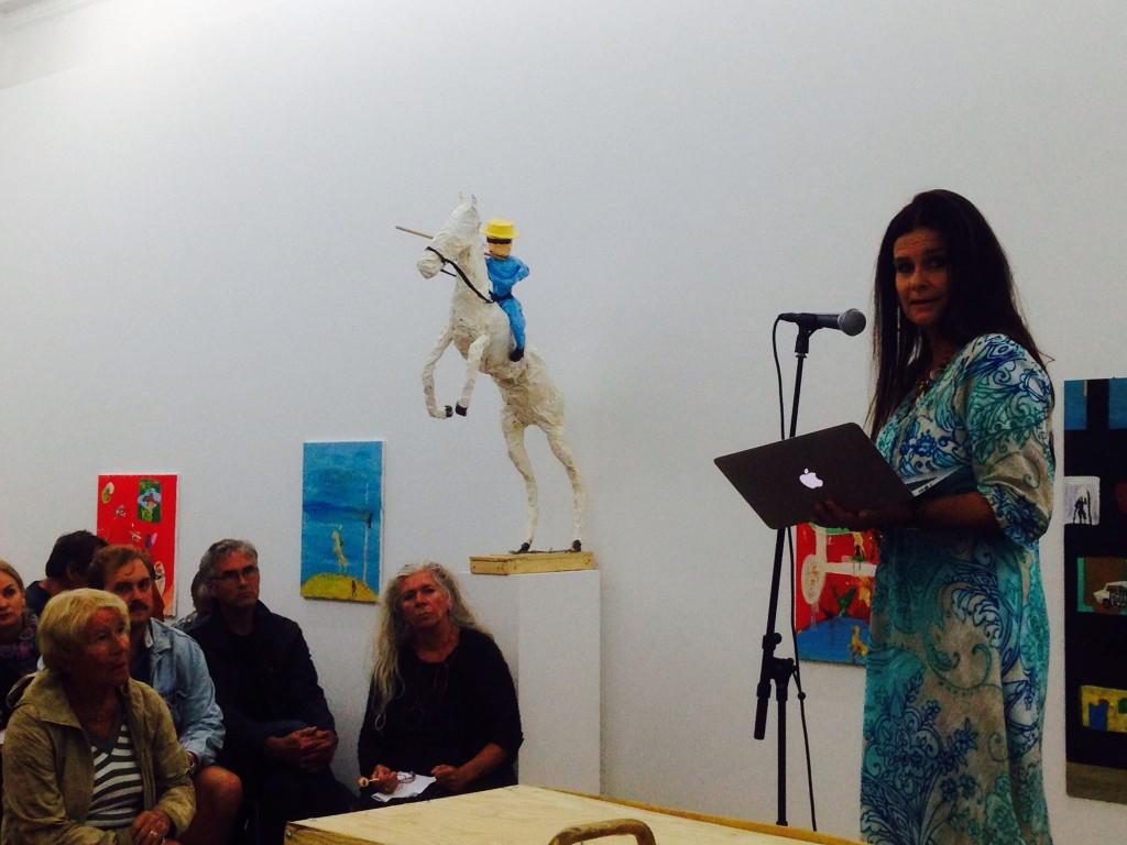 Styreleder Ingrid Kindem holder appell under Arendalsuka.