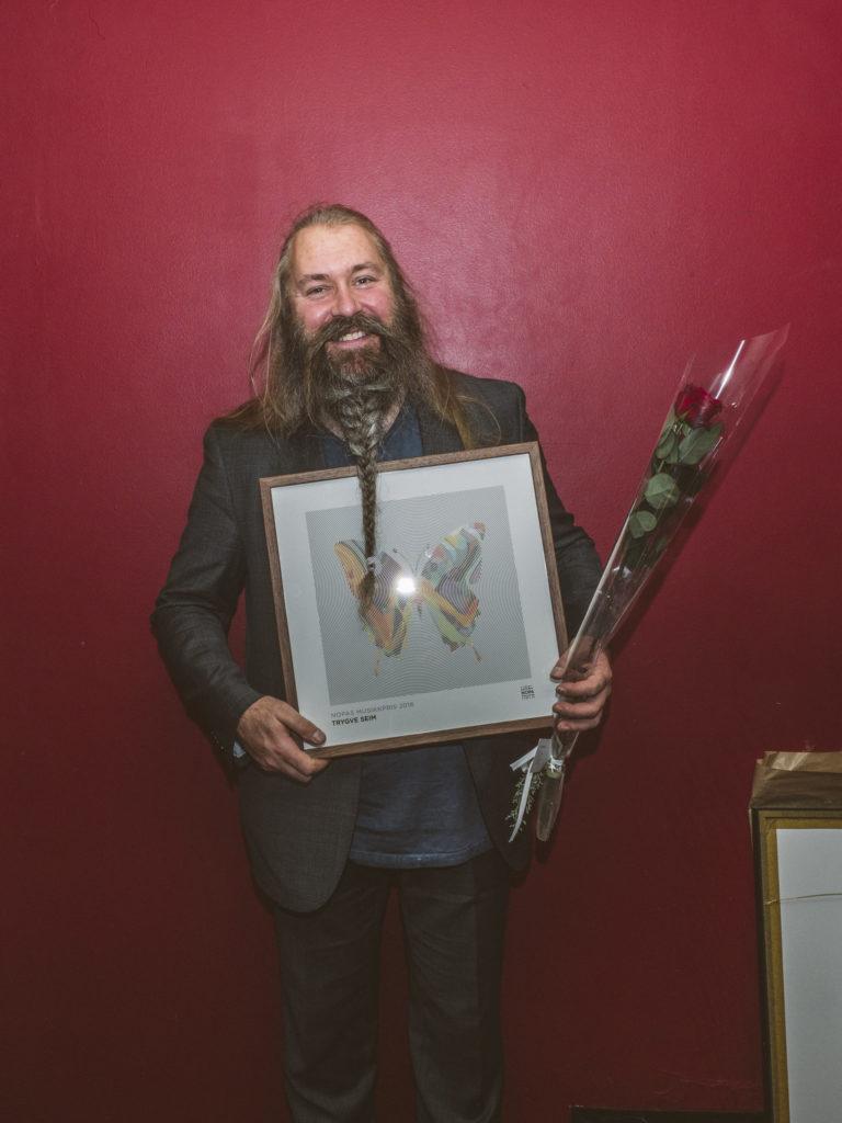 "Trygve Seim mottok NOPAs musikkpris for verket ""Rumi Songs"". Foto: Christoffer Krook"