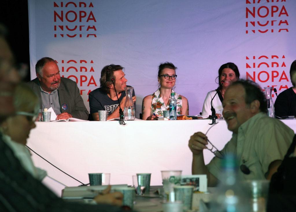 Deler av NOPAs styre. Fra venstre: Dagfinn Nordbø, Jon-Willy Rydningen, Tove Bøygard og Ingrid Kindem.