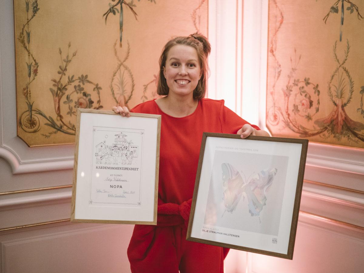 Silje Halstensen fikk Kardemommestipendet og NOPAs musikkpris i 2017. Foto: Christoffer Krook