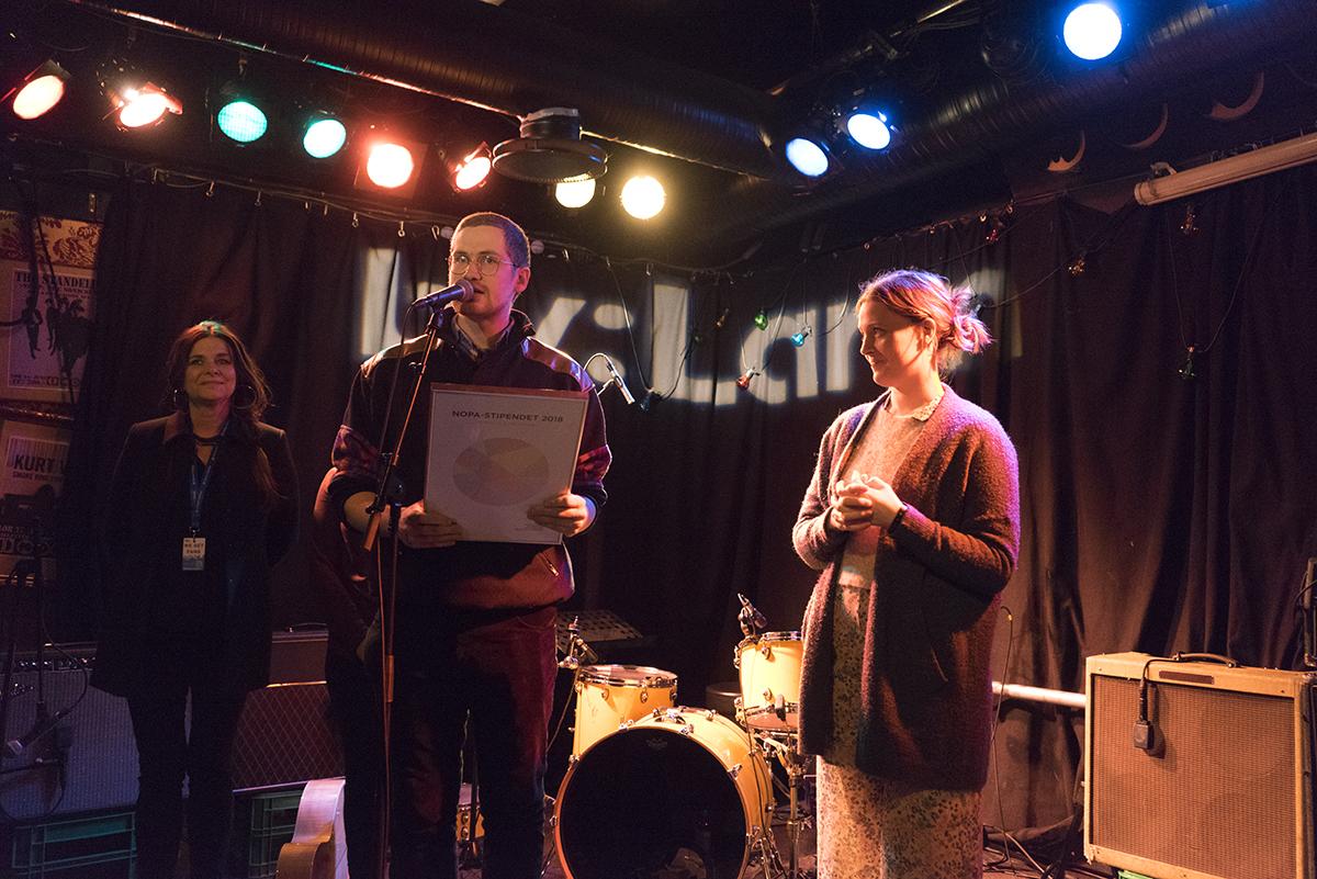 Louien fikk NOPAs låtskriverstipend. Foto: Stian Werme